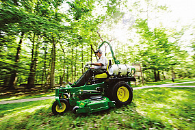 landscaping with propane mower